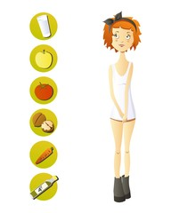 slim girl diet food