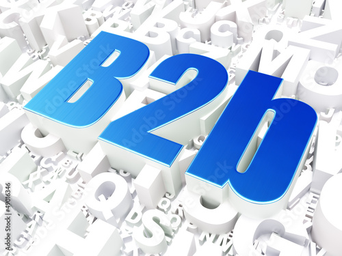 Business concept: B2b on alphabet