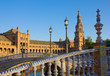 details of Plaza de Espana, Seville, Spain