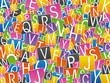 lettres mélangées - alphabet - communication - abc