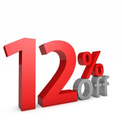 12 Percent off