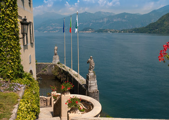 The small private harbor of Villa Del Balbianello