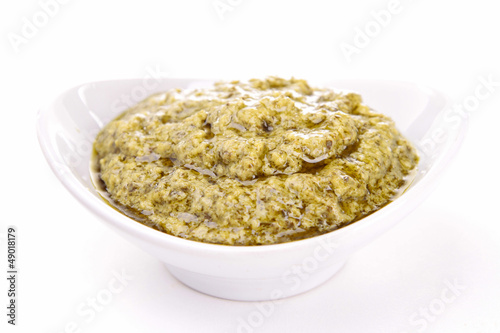 isolated pesto sauce