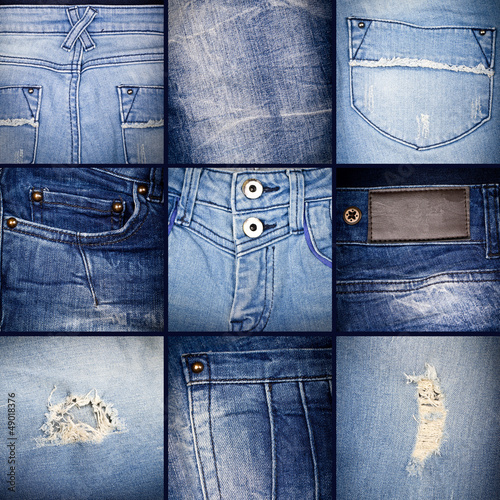 Denim collage