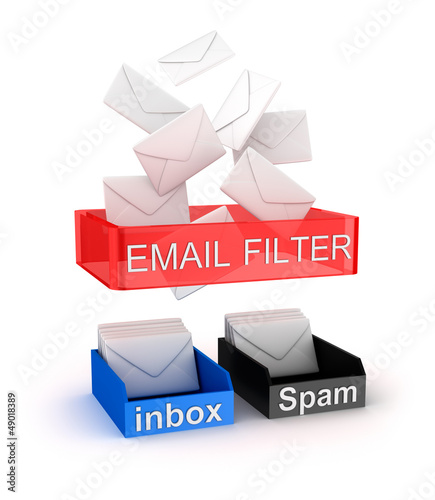 Concept of email filter in work.