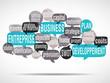 nuage de mots bulles : business plan