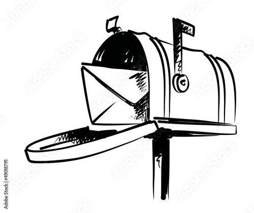 illustration of mailbox