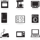 Home electrical appliances , vector illustration poster