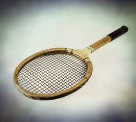 retro tennis racket