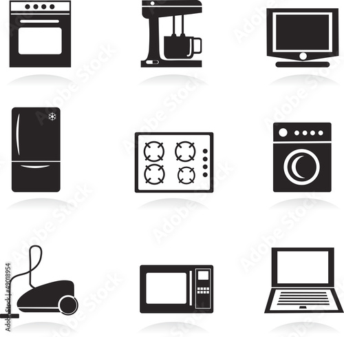 Home electrical appliances , vector illustration