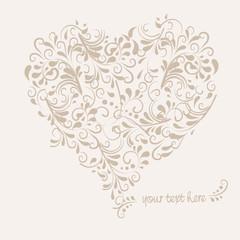 Herz aus Ornamenten