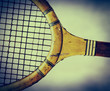 retro wooden tennis racket