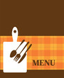 menu template with kitchen elements, illustration
