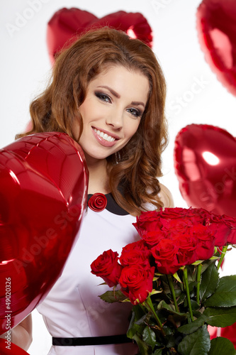 Saint Valentine day woman