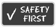 CB-Sticker TF eckig oc SAFETY FIRST