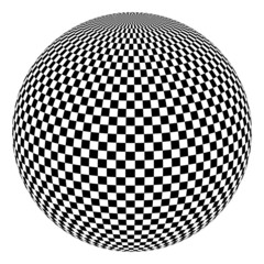 Vector illustration of black and white ball