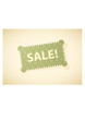 Vector illustration of green sale label