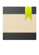 Vector abstract textured background with green bookmark
