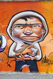 GRAFFITI DE CHAVAL CON GATO poster
