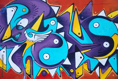 Fototapeta GRAFFITI COLORIDO ARTÍSTICO, ABSTRACTO
