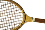 retro wood tennis racquet