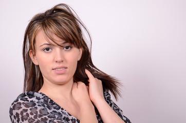 sexy frau mit langen haaren