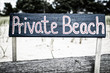 Private Beach Sign