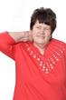 Seniorin hat Nackenschmerzen