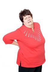 Seniorin hat Hexenschuss