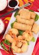 assortment of asia food