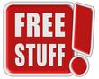 !-Schild rot quad FREE STUFF