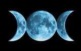 Wicca Blue Moon poster