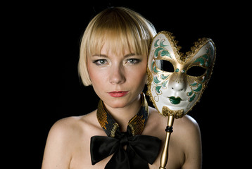 woman face with mask