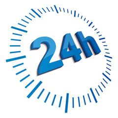 24 hours blue