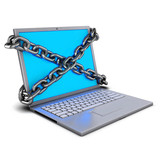 Chained laptop zoom