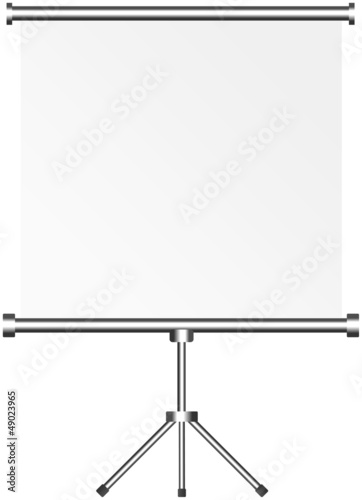blank roll up display, roll up, silver screen