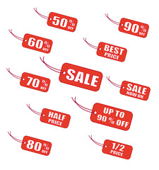 Red sale labels