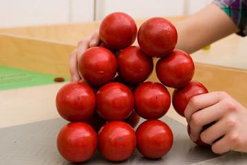 kinder hand ball spiel rot 8