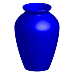 Vector illustration of blue vase