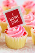 Valentine's Day Love Cupcake