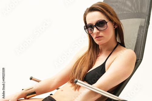 Frau mit Strandmode