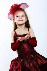 Little girl in beautiful dress