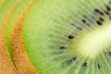Sliced Kiwi Fruit Close-Up