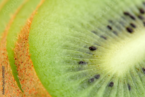 Sliced Kiwi Fruit Close-Up
