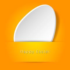 Cartolina di Buona Pasqua con uovo bianco