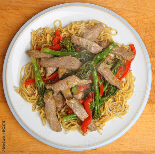 Thai Beef with Broccoli and Noodles