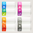 Rainbow - Ecological and Recycling icons / Navigation template