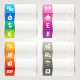Rainbow - Finance and Banking icons / Navigation template