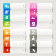 Rainbow - Cleaning and Household icons / Navigation template