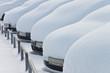 canvas print picture - Schnee - 002 - verschneite Autos